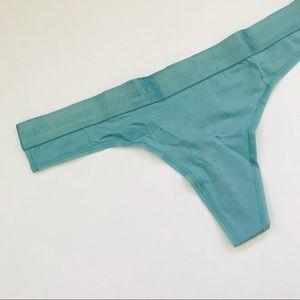 Victoria's Secret Stretch Cotton Logo Thong Panty